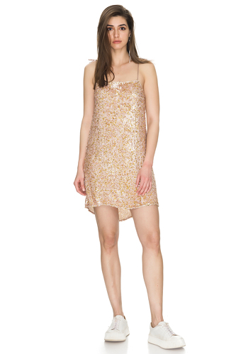 Gold Sequin Mini Dress - PNK Casual
