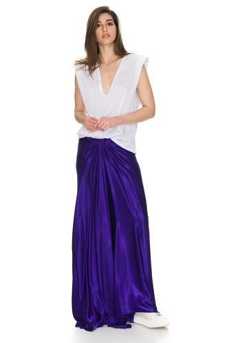 Purple Viscose Maxi Skirt - PNK Casual