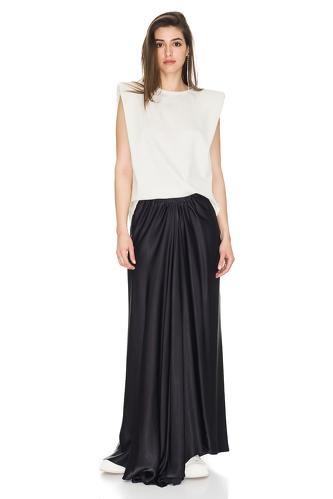 Black Viscose Maxi Skirt - PNK Casual
