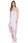 Lavender Asymmetrical Dress with Adjustable Straps