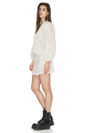 Cotton Off-White Blouse With Oversized Sleeves