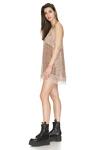 Light Brown Chantilly Silk Mini Dress