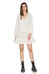 Oversized Off-White Cotton Mini Dress