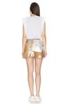 Gold-Silver Sequins Mini Skirt