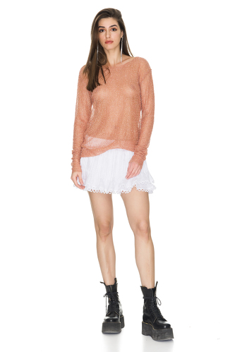 Beads Embellished Long Sleeve Top - PNK Casual