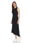 Asymmetrical Ribbed Cotton Midi Dress