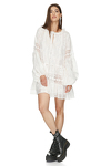 White Mini Dress With Cotton Lace Insertions