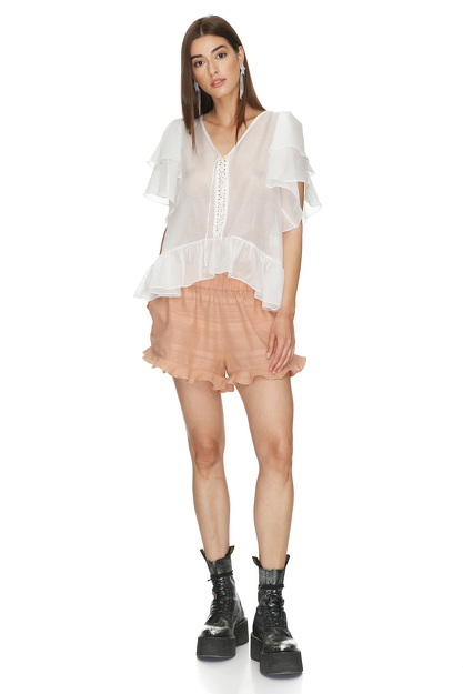 Cotton Peach Boho Shorts