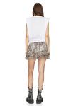 Printed Brown Glossy Silk Shorts