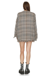Linen oversize checkered shirt