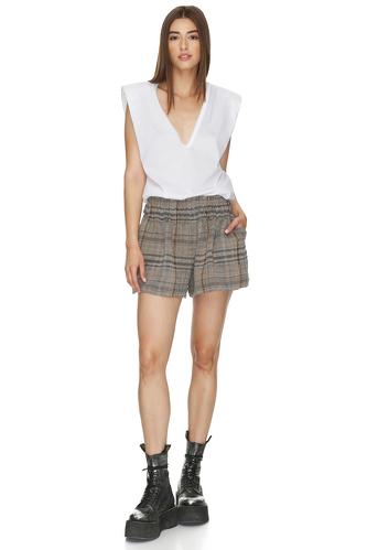 Linen checkered shorts - PNK Casual