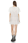 Relaxed Fit White Mini Dress
