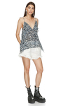 Animal Print Cutout Top With Straps