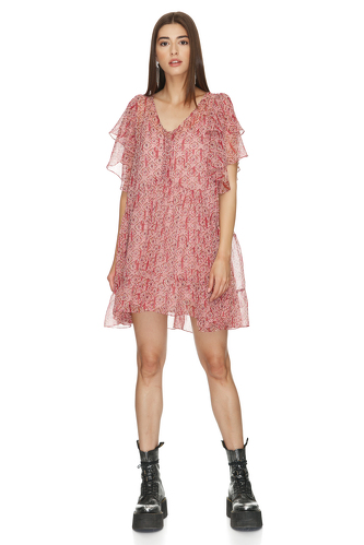 Relaxed Fit Silk Mini Dress - PNK Casual