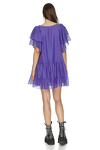 Relaxed Fit Purple Mini Dress