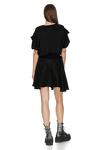 Black Mini Dress With Ruffles