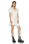 Off-White Viscose Mini Dress