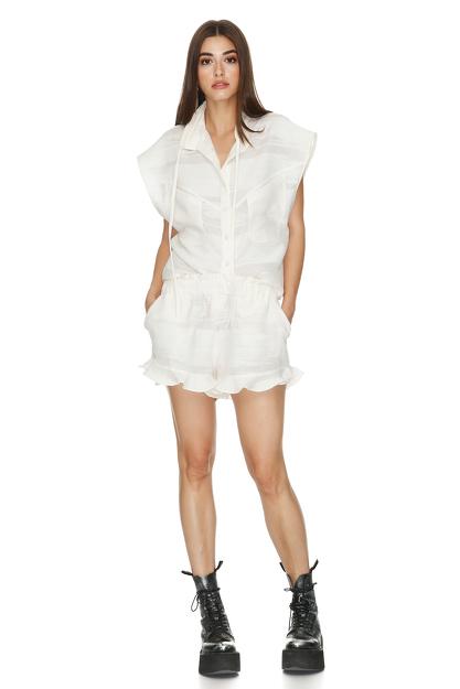 Cotton Off White Vest