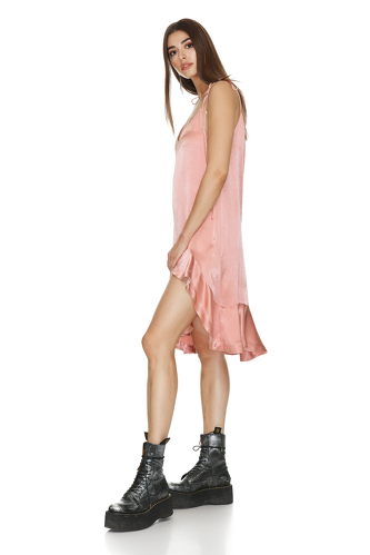 Viscose Mini Dress with Adjustable Straps - PNK Casual
