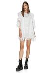 White Crocheted Cotton Mini Dress