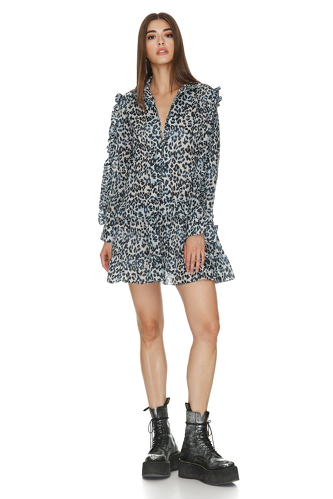 Animal Print Ruffled Dress - PNK Casual