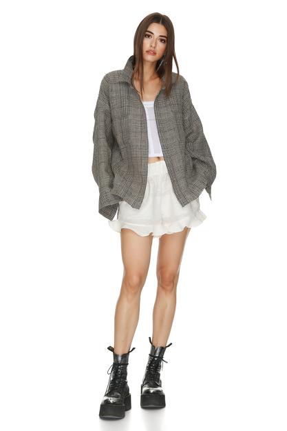 Cotton Oversize Checkered Shirt