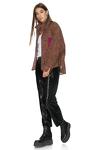 Fuchsia-Brown Oversized Shirt