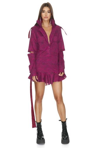Fuchsia Cutout Mini Dress - PNK Casual