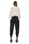 Belted Black Wool Pants