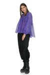 Indigo Oversize Pleated Sleeves Blouse