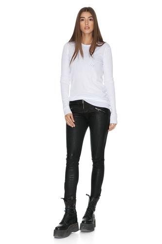 Rock Leather Black Pants - PNK Casual