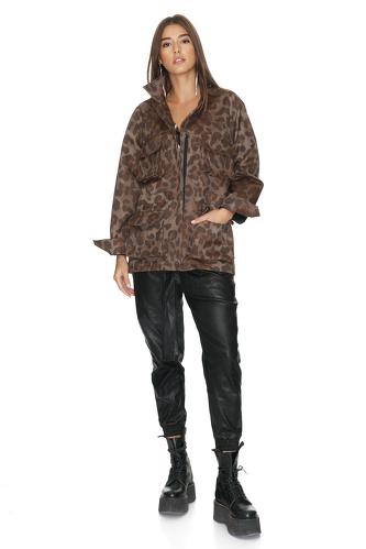 Leopard-print Cotton Jacket - PNK Casual