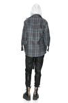 Blue Chechered Fringed Jacket