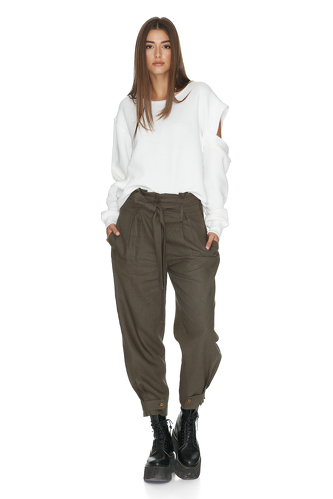 Belted Army-Green Pants - PNK Casual