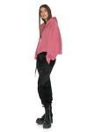 Dusty Pink Long Sleeve Zipped Hoodie