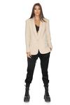Cotton-Blend Scuba Classic Blazer