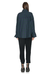 Cotton Green Checkered Oversize Shirt