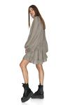 Viscose Checkered Dress With Long Sleeves