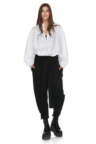 White Cotton Oversize Shirt - PNK Casual