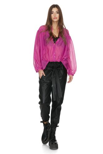 Fuchsia Cotton Oversize Shirt - PNK Casual