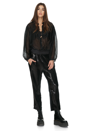 Black Cotton Oversize Shirt - PNK Casual
