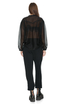 Black Cotton Oversize Shirt