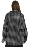 Grey Checkered Shirt With Messages On The Back