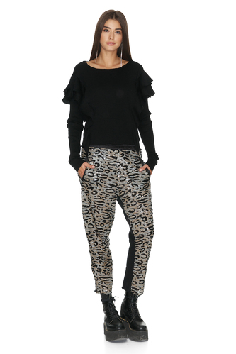 Leopard sequin pants - PNK Casual