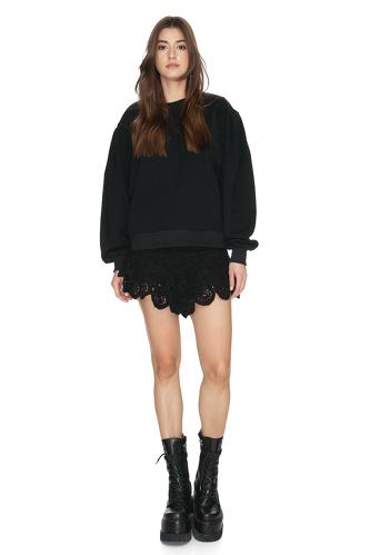 Oversized Black Blouse - PNK Casual