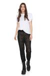 Black Cotton-Lace Pants