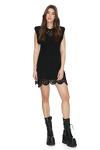 Black Crocheted Cotton Lace Dress