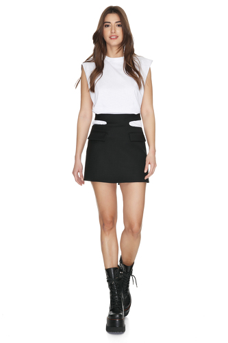 White Top With Oversized Shoulders - PNK Casual
