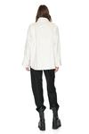 White Velvet Ribbed Shirt