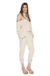 Cotton Hoodie With Side Sleeve Zipped